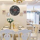 Reloj de Pared diseño Moderno de 30 cm, Alimentos Carne Mercado Lineal Gráfico Top,Reloj de Pared silencioso Digital, Utilizado en la Sala de Estar la Cocina