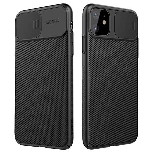 NILLKIN Funda para iPhone 11 6.1', [Protección de la cámara] Estuche híbrido Parachoques Premium no voluminoso Delgado Funda rígida para PC para iPhone 11 6.1' (2019) Negro