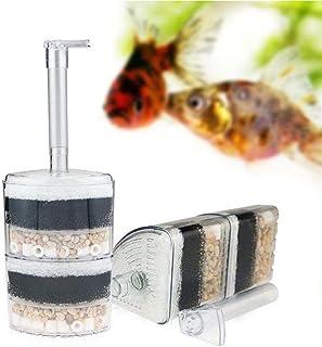 B&K –Aquarium Fish Tank Corner Filter Aquarium Fish Tank Internal Air Driven Filter with Media - Large