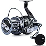 Sougayilang Spinning Reels 10000 Series Surf Fishing Reels,10+1 Stainless BB Ultra Smooth Powerful with CNC Aluminum Spool Fishing Reels for Saltwater Freshwater