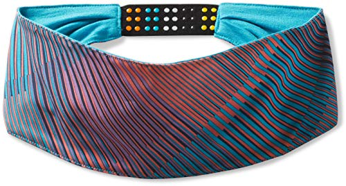 Smartwool Unisex Merino Sport Polyester Headband, Light Ocean Abyss Mountain Plaid Print, One Size Fits Most