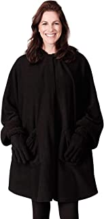 Le Moda 女士连帽羊羔绒镶边围巾   冬季系列   均码