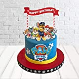 Paw Patrol Cake Topper and Dod Cake Decorate Paw Patrol Birthday Party Supplies