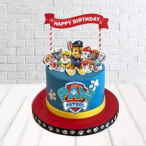 Paw Patrol ケーキトッパー ダッドケーキ装飾 パウパトロール 誕生日パーティー用品