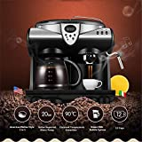 JIASHU Espresso and Coffee Machine, 3 in 1 Combination 20Bar Espresso Machine and Single Serve Coffee Maker with Coffee Mug, Milk Frother for Cappuccino and Latte