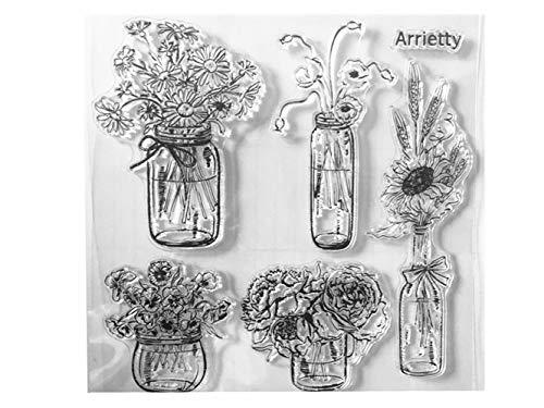 Vase Blumen Gänseblümchen Rose Mohnblume Vase Klar Stempel für Kartengestaltung Dekoration und DIY Scrapbooking Werkzeuge