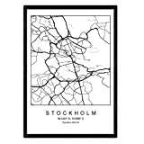 Nacnic Drucken Stadtplan Stockholm skandinavischen Stil in