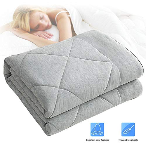 XJBHD Cool Comforter Ice Silk Quilt Summer for Bed, Air Conditioning Blanket Double Single Sofa for Adult, Office Nap Blanket Throw, Cool and Comfortable Best Gift for Parents Friends 150 to 200