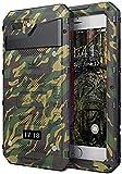Beeasy Funda Aluminio iPhone 7/8 Dura,IP68 Certificado Sumergible Carcasa,360 Grados Protección Pantalla Incorporado,Militar Imperemeable Antigolpes Antipolvo Robusta Duradera Fuerte,Camuflaje