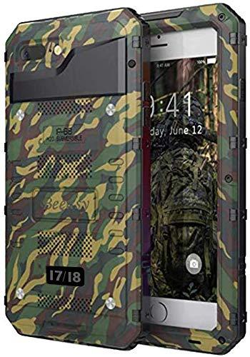 Beeasy Hülle Kompatibel mit iPhone 7/8 / SE 2020, Wasserdicht Stoßfest Outdoor Handy Case Militärstandard Schutzhülle mit Displayschutz Robust Metall Schutz Heavy Duty Handyhülle,Camouflage