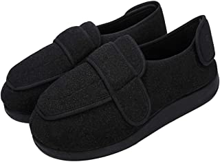 Men's Diabetic Slippers Memory Foam Adjustable Extra Wide Width House Shoes Anti Skid Walking Shoes Comfy Plush/Breathable Mesh Swollen Feet Arthritis Edema Orthopedic Shoes Indoor Outdoor Footwear