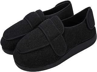 Men's Diabetic Slippers Memory Foam Adjustable Extra Wide Width House Shoes Anti Skid Walking Shoes Comfy Plush/Breathable Mesh Swollen Feet Arthritis Edema Orthopedic Shoes Indoor Outdoor Footwear