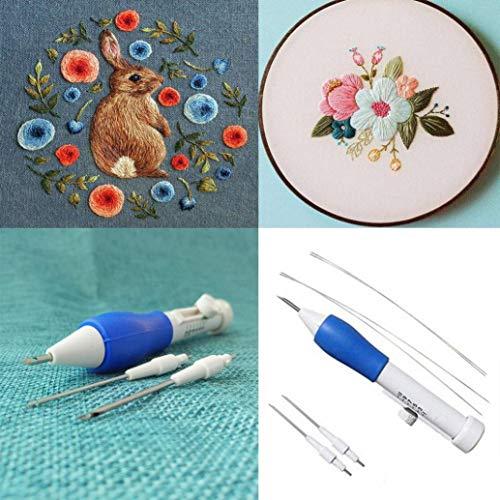 Magische Stickerei-Sets Stitching Punch Nadel-Set DIY Craft Stricken Nähwerkzeug