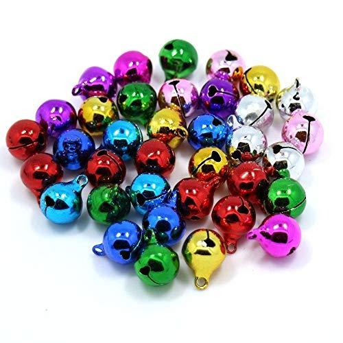 WopenJucy Campanas para Manualidades y Suministros de Bricolaje, cascabeles de Navidad, Colores Variados, 10 mm,...