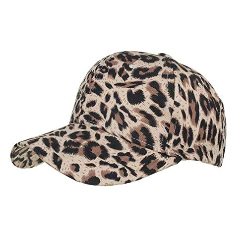 JKJKL Baseball Cap Animal Print Damen Cap Männer Frauen Leopard Baseball Cap Streetwear Hip Hop Knochen Trucker Hut Sommer