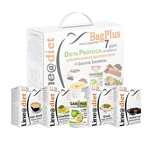 DIETA PROTEICA BAG PLUS + GARCINIA EXTRAFORTE ! 7 Giorni: Opz.2 = 21 preparati PROTEICI no Carbs no zuccheri+7 barrette proteiche+GARCINIA EXTRAFORTE  Dieta Perdi Peso