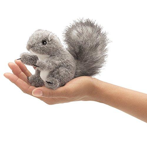 Folkmanis Mini Gray Squirrel Finger Puppet, 1 EA