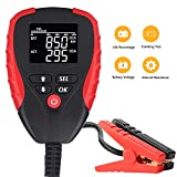 Digital 12V Car Battery Tester Pro with AH/CCA Mode Automotive Battery Load Tester and Analyzer of Battery Life Percentage,Voltage, Resistance and CCA Value for Car, Motorcycle, Boat, Vehicle etc