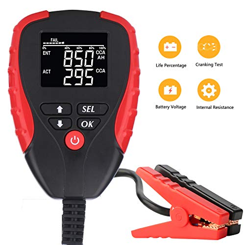 Buy Discount Digital 12V Car Battery Tester Pro with AH/CCA Mode Automotive Battery Load Tester and ...