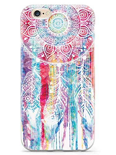 Inspired Cases - 3D Textured iPhone 6 Plus/6s Plus Case - Rubber Bumper Cover - Protective Phone Case for Apple iPhone 6 Plus/6s Plus - Dreamcatcher Watercolor Spiritual Native American