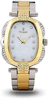 Sunex Women's White Dial Stainless Steel Band Watch, S0380TW