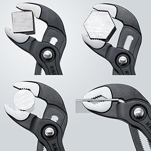 Knipex Cobra – Hochleistungs-Wasserpumpenzange mit Schnelleinstellung und schlanken Mehrkomponenten-Griffhüllen, 250 mm, Rohre bis 50 mm - 6