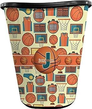 RNK Shops Basketball Waste Basket - Single Sided  Black   Personalized