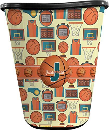 RNK Shops Basketball Waste Basket - Single Sided (Black) (Personalized)