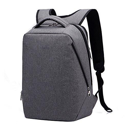 Kopack Men Travel Rucksack Backpack Lightweight Laptop Backpack bag for 14 15.6 most 17 Inch Waterproof Grey Slim