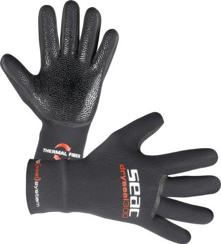 Seacsub Dryseal Gloves 300 3,5 mm, Nero, Taglia S