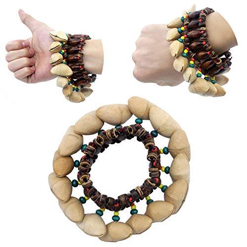 Best Deals! YESZ Hand Bell, Tap Keyboard Instrument Dora Nutshell Wrist Hand Bell African Drummer Mu...