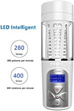 LED Voice Intelligent Male Automatic Cup Sucking 400Times/Min and 360° Rotating 10 Pattern 5 Speed Electronic Massage Cup Male's Toy