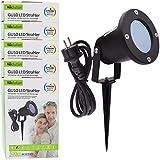 5x Evolution LED Gartenstrahler mit Erdspieß inkl. 4W GU10 2700K IP65, Gartenbeleuchtung, Wegbeleuchtung, Außenleuchte, Gartenlampe, Gartenleuchte, warmweiß, Spritzwasser geschützt, mit Anschlußkabel
