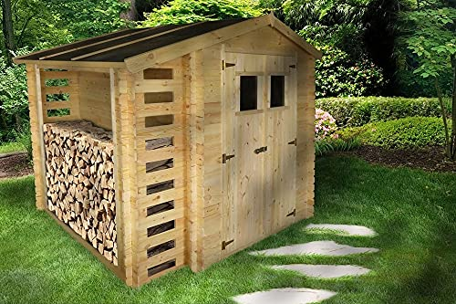 Casetta in legno con legnaia 200x200