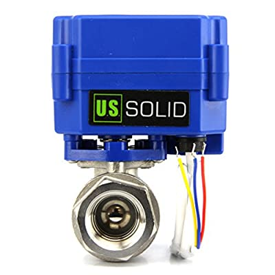 """Motorized Ball Valve- 3/4"""" Stainless Steel Electrical Ball Valve with Full Port, 9-24V AC/DC and 3 Wire Setup by U.S. Solid … from U.S. Solid"""