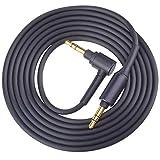 WH-1000XM3 Cable Replacement AUX Audio Cord Compatible with Sony WH-H900N MDR-1A WH1000XM2 MDR-XB950BT MDR-100ABN Headphones (4.9ft/1.5m, Black)