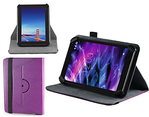 Navitech Purple Faux Leather Book Style Case Cover Compatible With The Acer Iconia One 7 B1-780