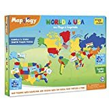 Product Image of the Imagimake: Mapology World and USA with Capitals- Learn World and USA States...