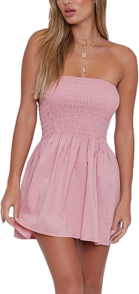 Strapless Fixed Don't miss the campaign price for sale Dress Women Tube Sexy Cotton Comfort Swin Summer