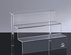 WINKINE 3 Pack Acrylic Riser, Clear 3 Step Acrylic Stand Shelf for Amiibo Funko Pop Figure Display Large(9x12 inch)