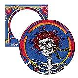 AQUARIUS Grateful Dead Skull & Roses Record Disc Puzzle (450 piezas) – Producto oficial de Grateful Dead y coleccionables – Libre de deslumbramiento – Ajuste de precisión – 30 x 30 cm