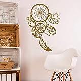 Pegatinas de pared de estilo decorativo bohemio calcomanías de pared dormitorio en casa atrapasueños decoración pegatinas calcomanías A4 57x81cm