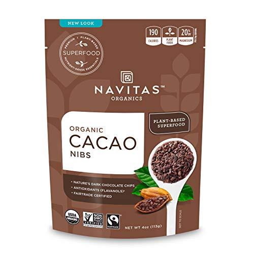 Navitas Organics Raw Cacao Nibs, 4 oz. Bag, 4 Servings — Organic,...