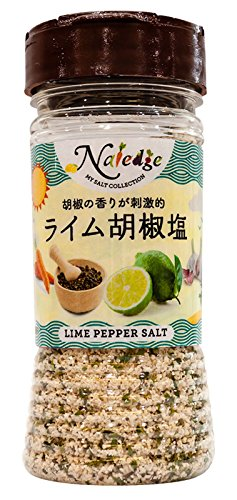 《ナレッジ 塩シリーズ》胡椒の香りが刺激的 ライム胡椒塩 100g