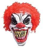 Smiffys Bristol Novelty BM461 Horror Clown Maske mit roten Haaren, Einheitsgröße