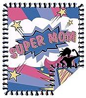 縫い目のないスローキット Super Mom 72インチ x 60インチ。 プリント2枚。 大きなリバーシブルブランケット。