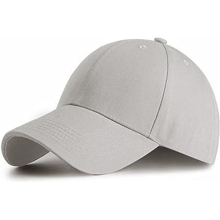 HGDGears Plain Baseball Cap Snapback for Men and Women - Classic 6 Panel Adjustable Sport Casual Sun Visor Hat