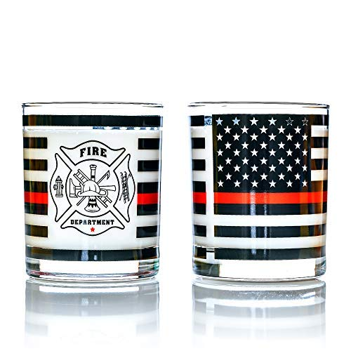 Thin Red Line Drinking Glasses