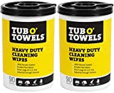 Tub O Towels TW90-2 Heavy-Duty Multi-Surface Cleaning Wipes, Citrus, 10 X 12 Inch, 2 Count