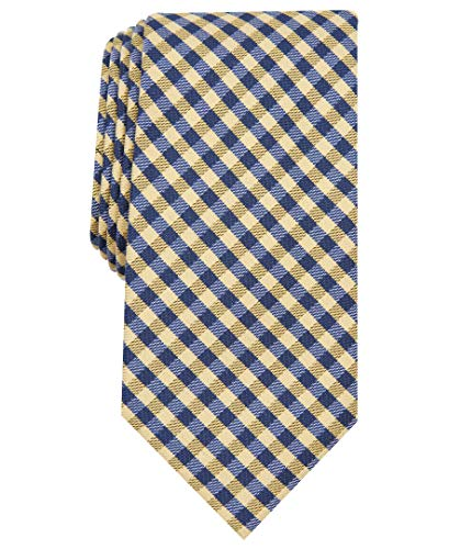 Nautica Herren Waves Plaid Krawatte, gelb, Einheitsgröße